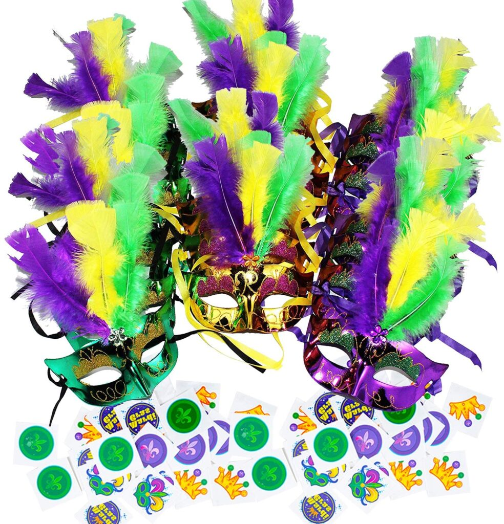 feather - mardi gras - let the good times roll