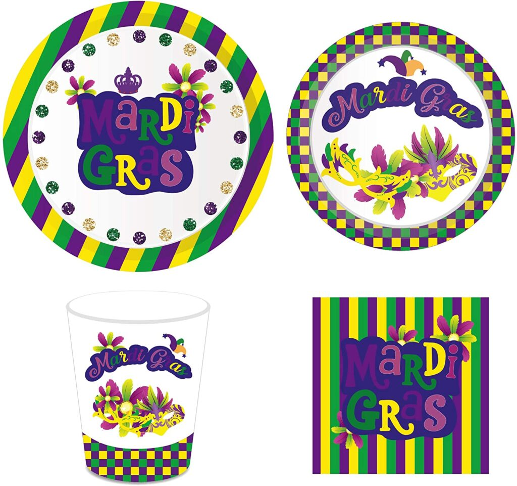 plates - mardi gras - let the good times roll