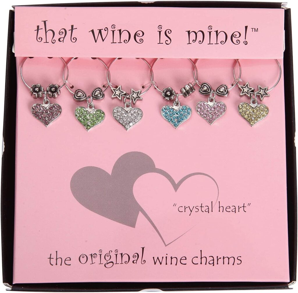 Valentines Day - spread love - wine charms