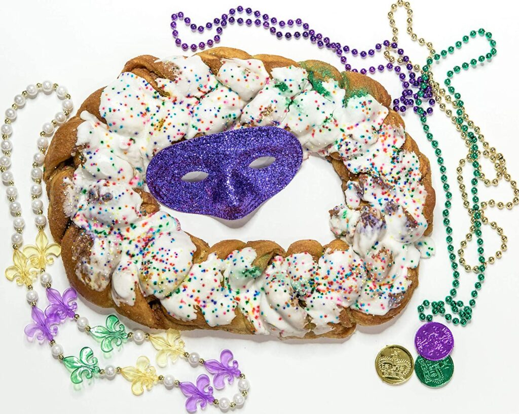 king cake - mardi gras - let the good times roll