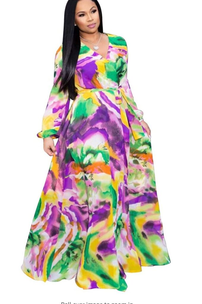 colorful dress - mardi gras - let the good times roll