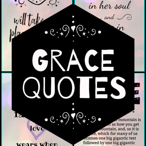 quotes on grace - pin black