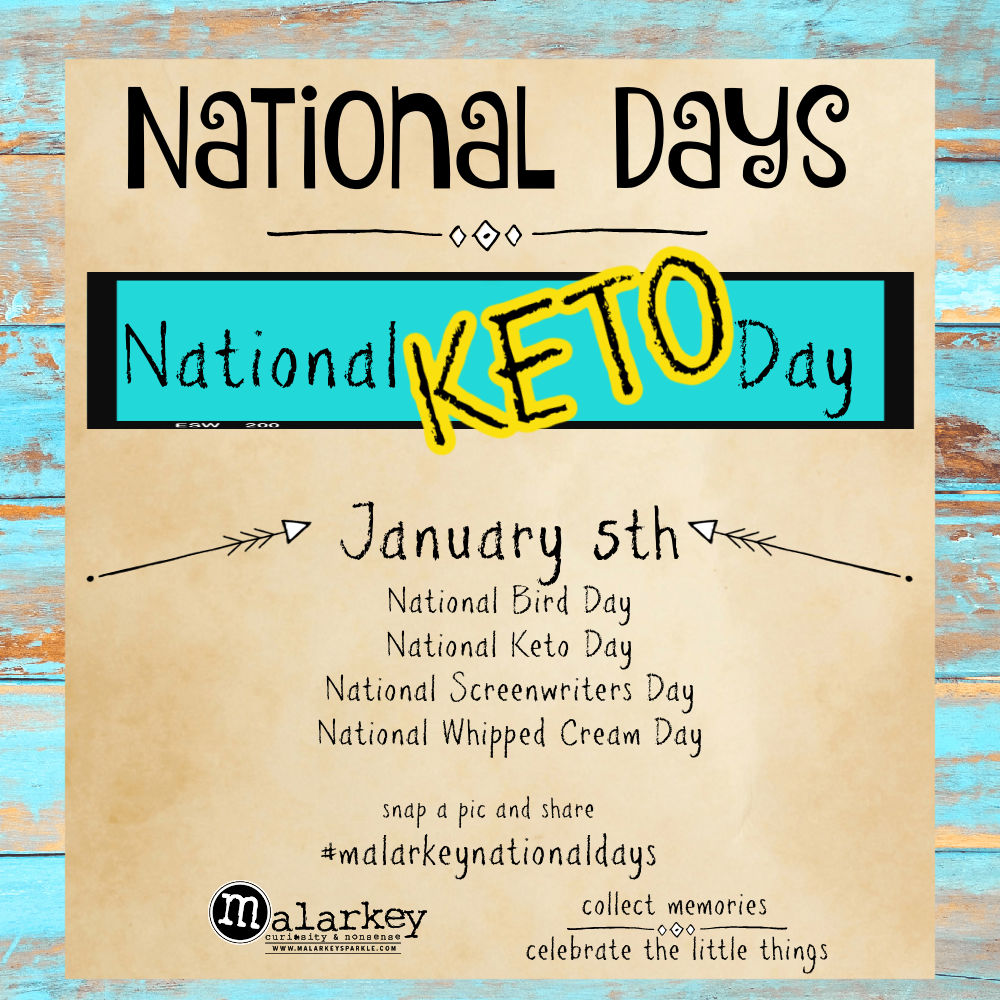 National Days - Let's Celebrate - keto