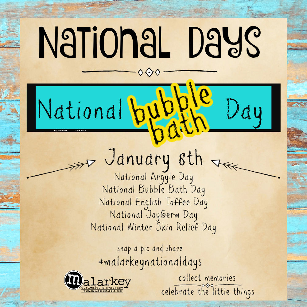 National Days - Let's Celebrate - bubble bath