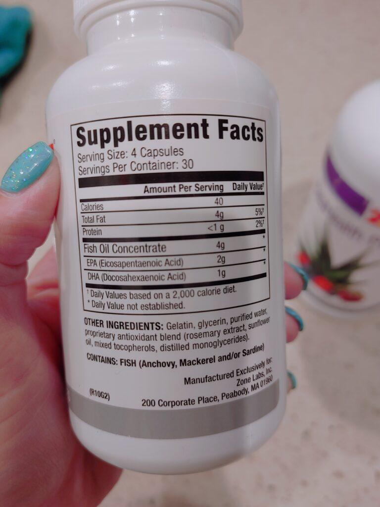 vitamins - fish oil and sea health