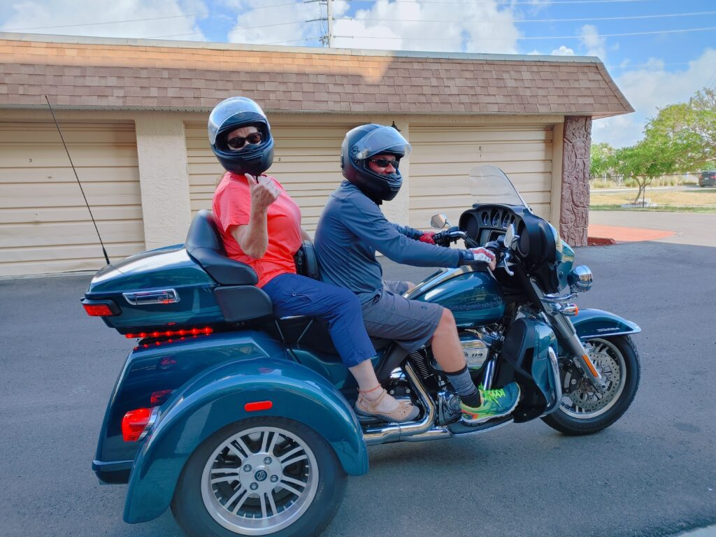 mark and lala on the harley